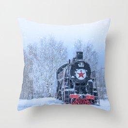 Time train Throw Pillow