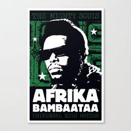 The Mighty Souls: Afrika Bambaataa Canvas Print