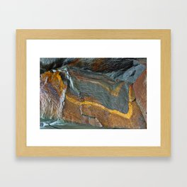 Abstract rock art Framed Art Print