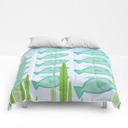 schooling fish Comforters