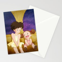 Mei & Satsuki Inside the Catbus Stationery Cards