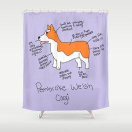 Pembroke Welsh Corgi Shower Curtain