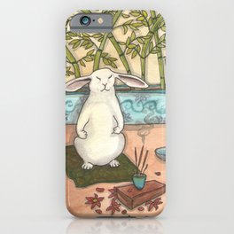 Meditating Bunny iPhone Case
