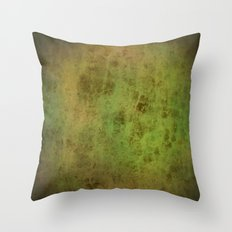 Green leather look texture with dark vignette Throw Pillow