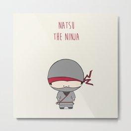 Natsu the Ninja Metal Print