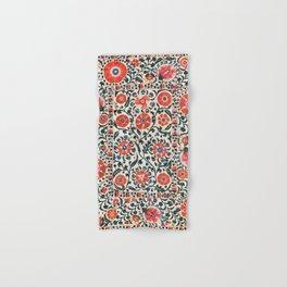 Shakhrisyabz Suzani  Uzbekistan Antique Floral Embroidery Print Hand & Bath Towel