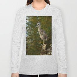 Juvenile Yellow Crowned Night Heron Long Sleeve T-shirt