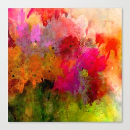 floral and abstract Canvas Print