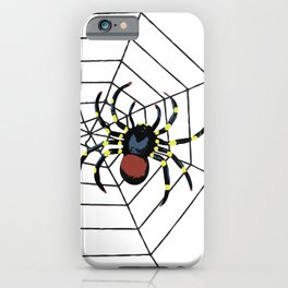 two big Spider Halloween web iPhone Case