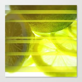 Light & Limes Striped Abstract Design Canvas Print
