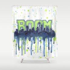 Seattle 12th Man Seahawks Painting Legion of Boom Art Shower Curtain