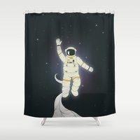 outer space Shower Curtains featuring Outer Space by Tuylek