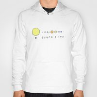 solar system Hoodies featuring Solar System by Theo Leschevin