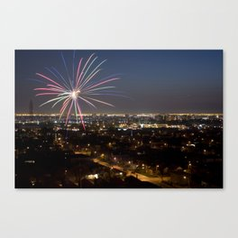 Fireworks. Canvas Print