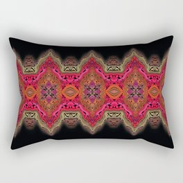 Elegant wavy pink stripes on black Rectangular Pillow
