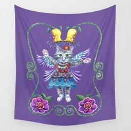 Angel Kitty (Purple) Wall Tapestry