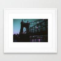 cincinnati Framed Art Prints featuring Cincinnati by The Violet Noir