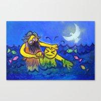 John Baptizes Jesus (by Chank Diesel) Canvas Print
