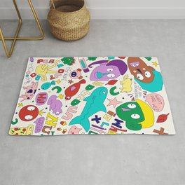 Fun and Colourful Doodle Rug