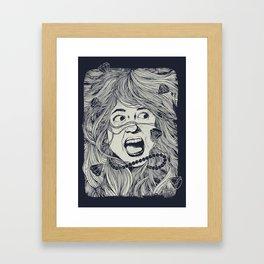 Haunted Beauty Framed Art Print