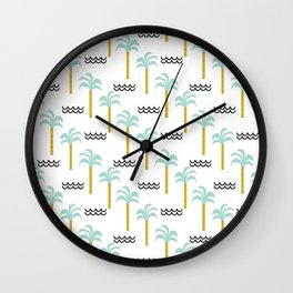 Palm Tree tropical island vacation wave water socal hawaii beach life salt life chilled out vibe Wall Clock
