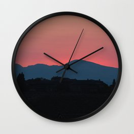 Sunrise in the Mountains Wall Clock