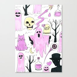 ghost aesthetic Canvas Print