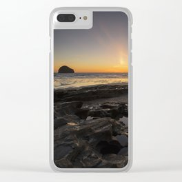 Sunset in Cornwall Clear iPhone Case