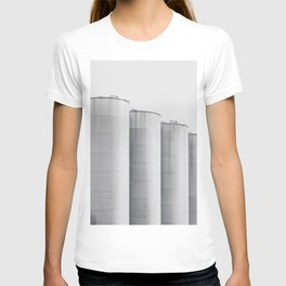 Industrial, architecture photography, fine art, black & white photo, b&w urban, man cave gift T-shirt