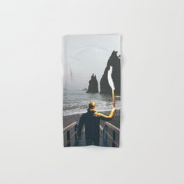 Wanderer at the Washington State Beach Hand & Bath Towel