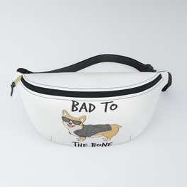 Bad to the Bone Corgi Fanny Pack