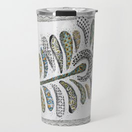 Patterned Peacock Feather Travel Mug