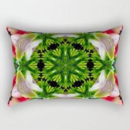 orchids mandala art Rectangular Pillow