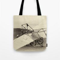 airplane Tote Bags featuring Airplane by DistinctyDesign