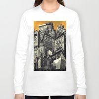 cityscape Long Sleeve T-shirts featuring Cityscape by Chris Lord