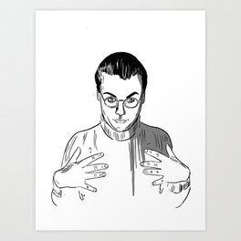 Would You Like To Touch My Monkey? Art Print