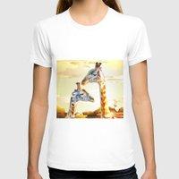 giraffes T-shirts featuring Giraffes by Eric Bassika