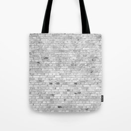 White Washed Brick Wall - Light White and Grey Wash Stone Brick Tote Bag