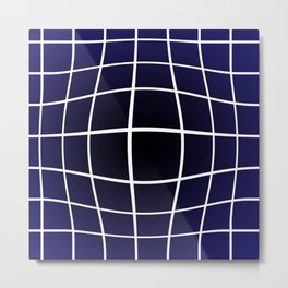 BBULGEE - Geometric, Ombre, Optic Illusion Metal Print