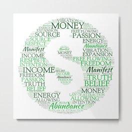 Financial Abundance Word Art Metal Print