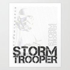 Star Wars Stormtrooper - Digital Art Print Art Print