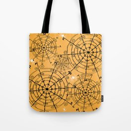 Halloween Spider Web Tote Bag