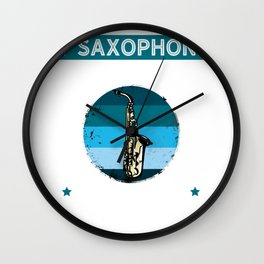 If Saxophone Was Easy They'd Call It Trumpet, Vintage Retro Gift for Saxophone Player Wall Clock