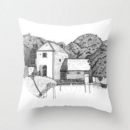 Claverton Pumping Station Throw Pillow