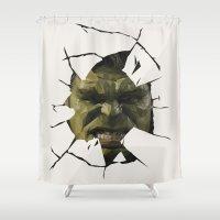 hulk Shower Curtains featuring Hulk by s2lart