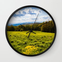 A View of the Blue Ridge Mountains from Shenandoah National Park Wall Clock