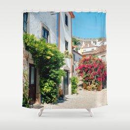 Portugal, Obidos (RR 182) Analog 6x6 odak Ektar 100 Shower Curtain