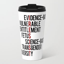 Donald Trump's seven banned words CDC: I RESIST 7 evidence-based vulnerable entitlement fetus Travel Mug