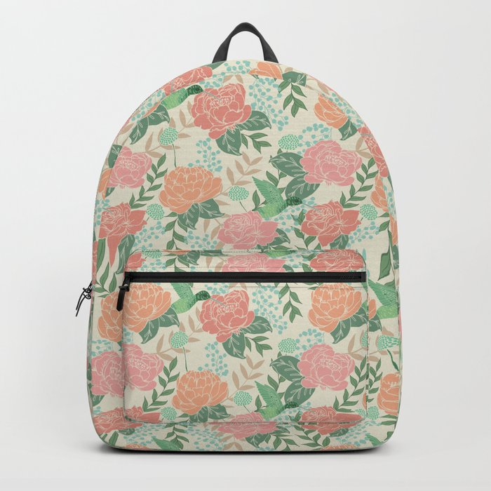 Victorian Garden with Hummingbird Backpack