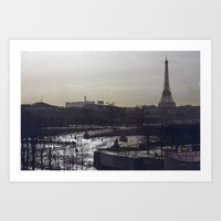 eiffel Art Prints featuring Eiffel by Zanita